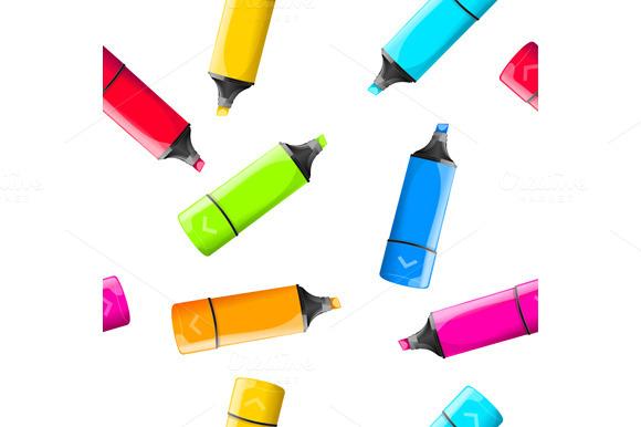 Rainbow Marker Pattern. Vector - Patterns
