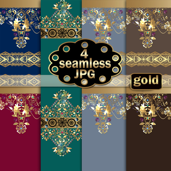 Seamless Texture Gold Lace 2