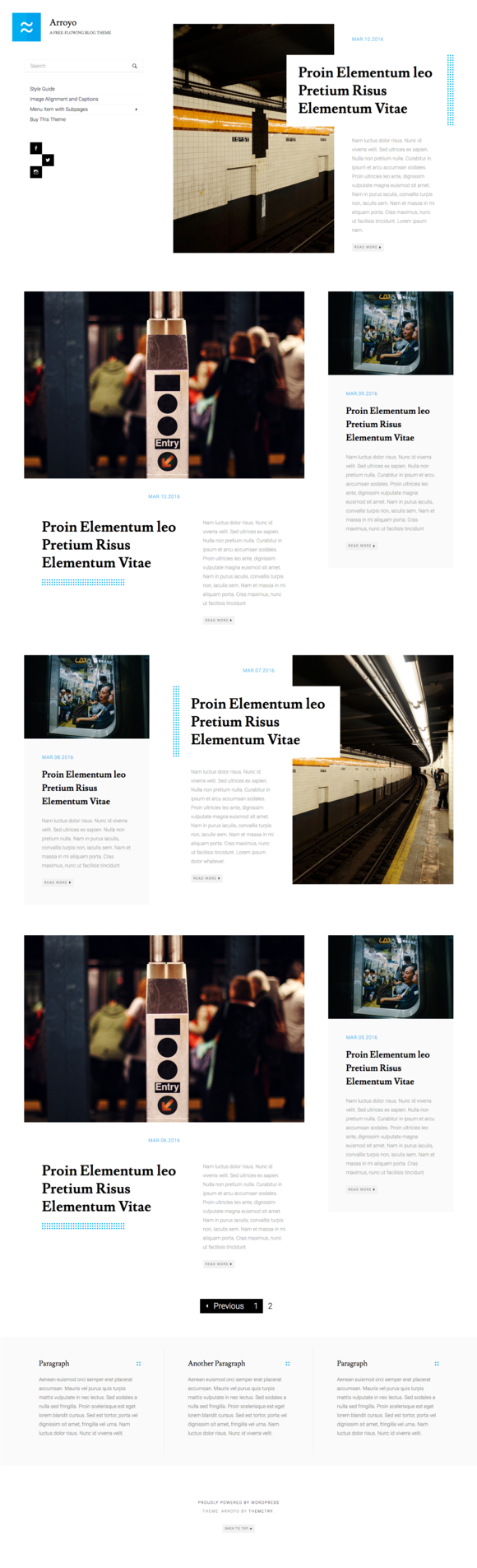 Arroyo: A Free-Flowing Blog Theme - Blog