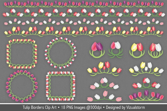 Tulip Borders And Frames Clip Art
