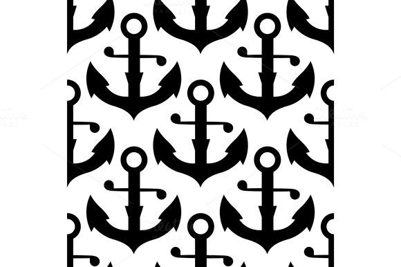 Nautical Anchors Seamless Pattern