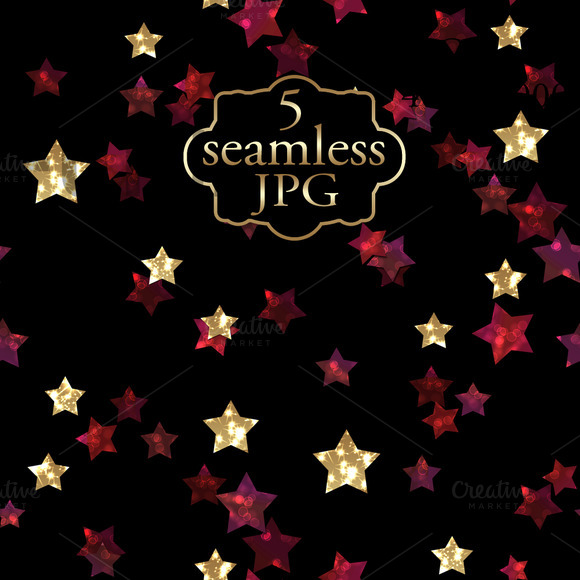 Pattern With Glitter Stars