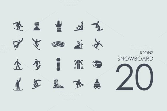 20 Snowboard Icons