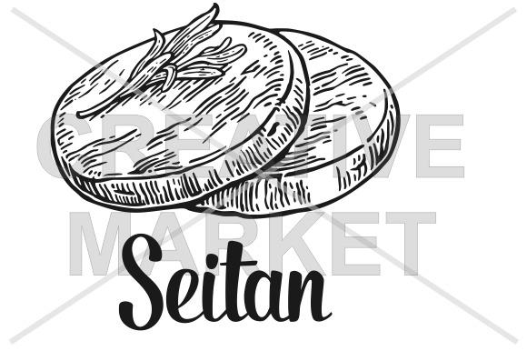 Seitan Vector Vintage Engraved
