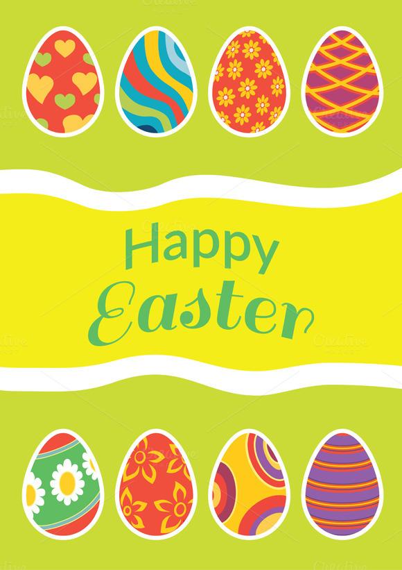Set Of Brochure Flyer Layout Easter