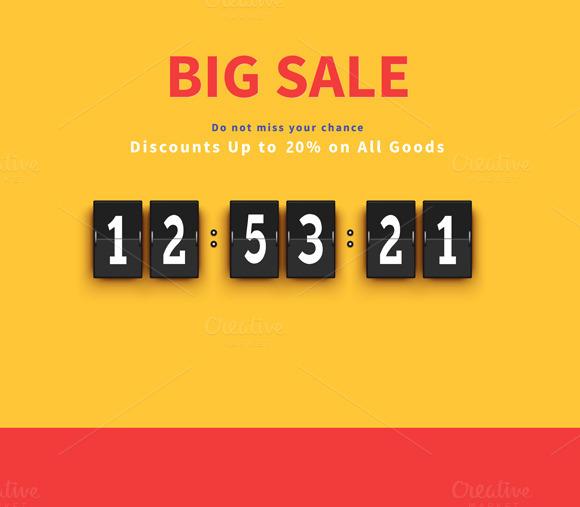 Opening Soon. Big Sale Countdown - Illustrations