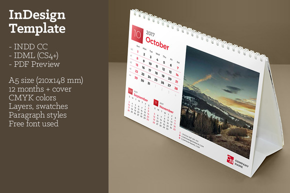 CreativeMarket Desk Calendar 2017 (DC10) 607800 - Heroturko Download