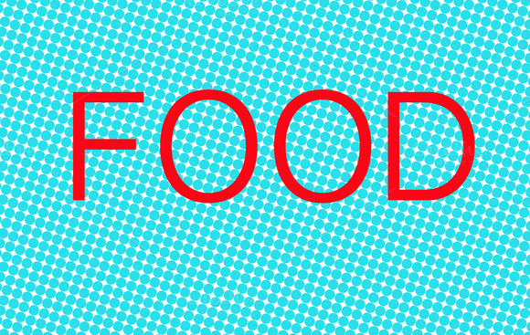 Illustration With The Word Food