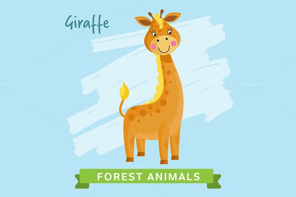 Giraffe Vector Forest Animals