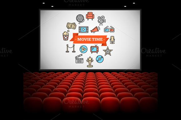 Cinema Concept. Vector - Illustrations