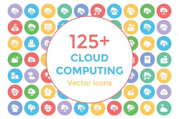 125 Cloud Computing Vector Icons