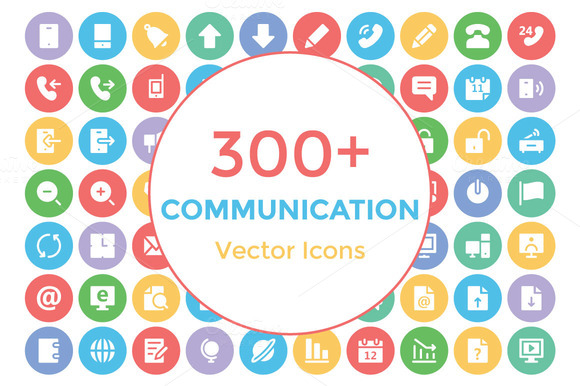 300 Communication Vector Icons