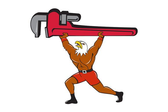 Bald Eagle Plumber Monkey Wrench