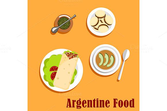 Argentine Lunch And Dessert Food