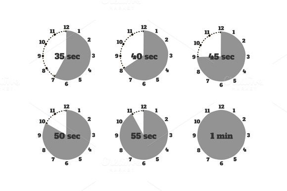 Set Of Time Second Stopwatch