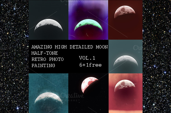 HIGH DETAILED MOON vol.1 - Textures