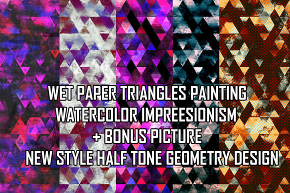WET PAPER GEOMETRY PAINTING