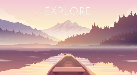 Explore. Vector web illustration. - Illustrations