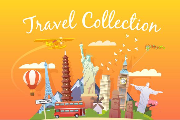 Travel Collection. Web illustrations - Illustrations