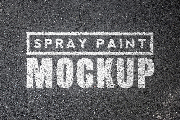 Spray Paint Mockups Bundle