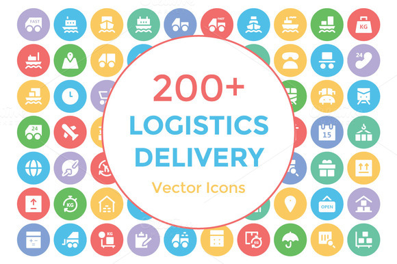 200 Logistics Delivery Vector Icons