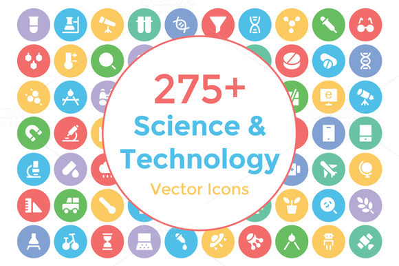 275 Science And Technology Icons