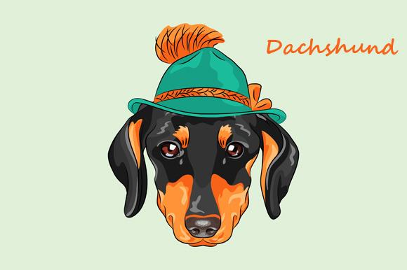 Hipster Dog Dachshund