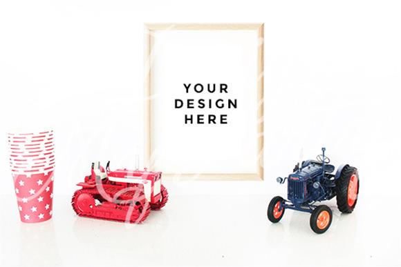 Tractor Bulldozer Poster Mockup
