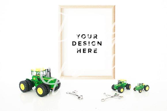 John Deere Tractor Poster Mockup
