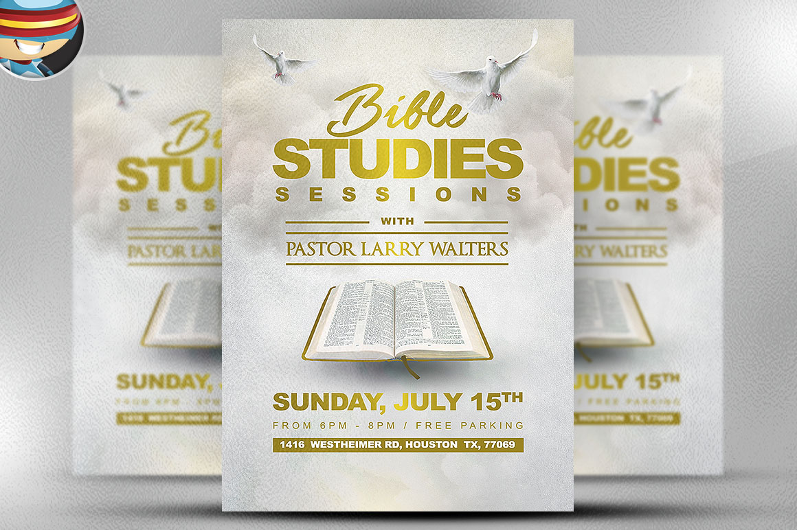 bible study flyer template 2 flyer templates on creative market. Black Bedroom Furniture Sets. Home Design Ideas
