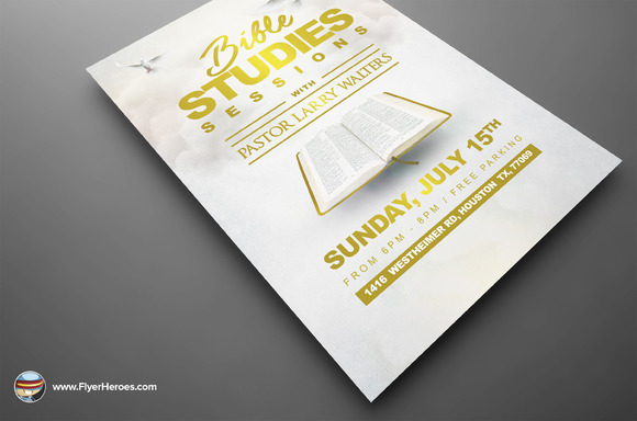 Creativemarket bible study flyer template 2 615129 link for Research study flyer template