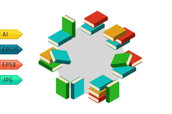 Stacks Of Multi Colored Books