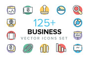 125+ Business Vector Icons -Graphicriver中文最全的素材分享平台