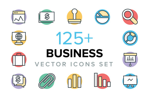 125 Business Vector Icons
