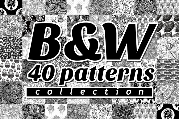 Black White Patterns Collection