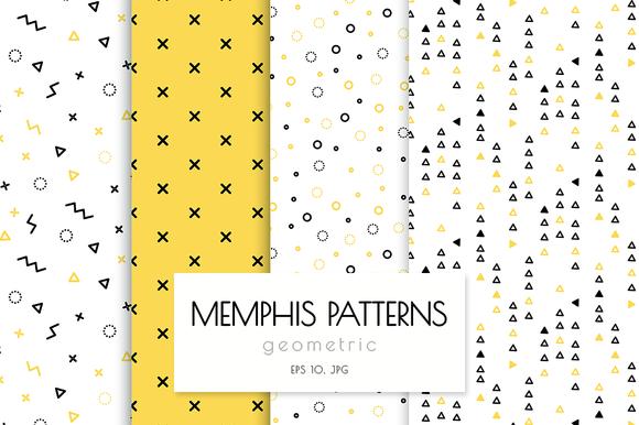 Memphis Patterns Geometric