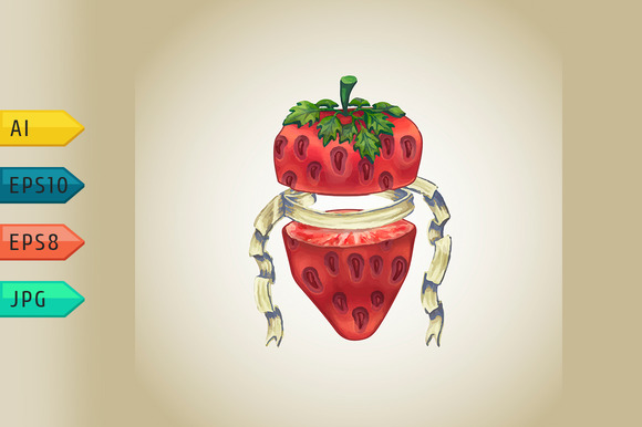 Strawberry With Heraldic Ribbon