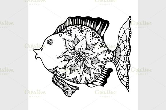 Hand Drawn Vector Fish