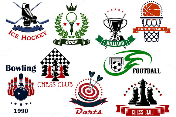 Sport Emblems Icons And Symbols