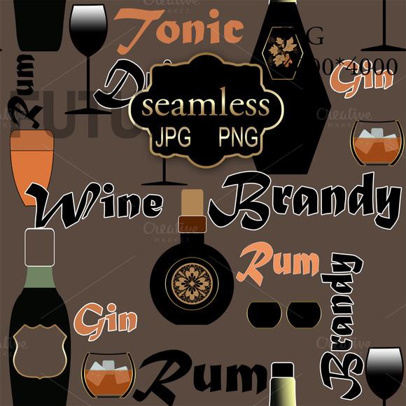 Wine, brandy -background. PNG - Patterns