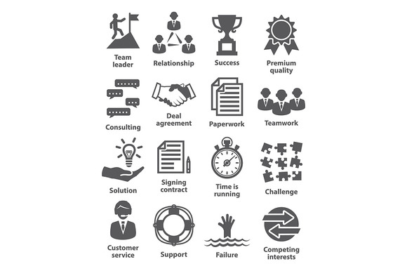Business Management Icons Pack 10