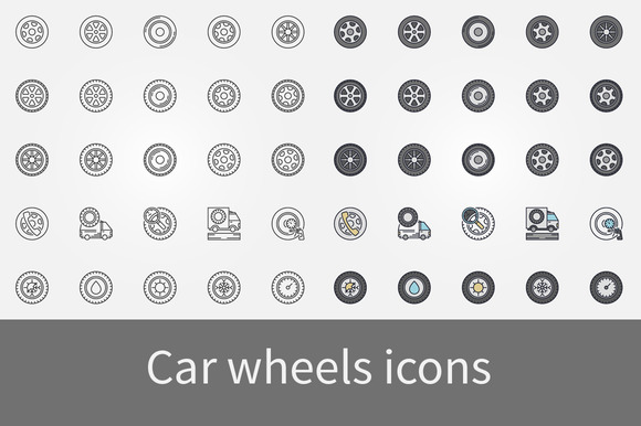 Car Wheels Icons