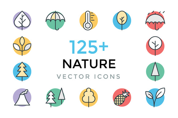 125 Nature Vector Icons