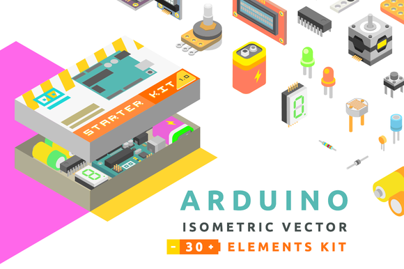 Isometric Vector Arduino St-Graphicriver中文最全的素材分享平台