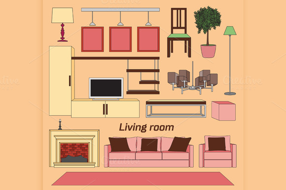 Cool Graphic Living Room