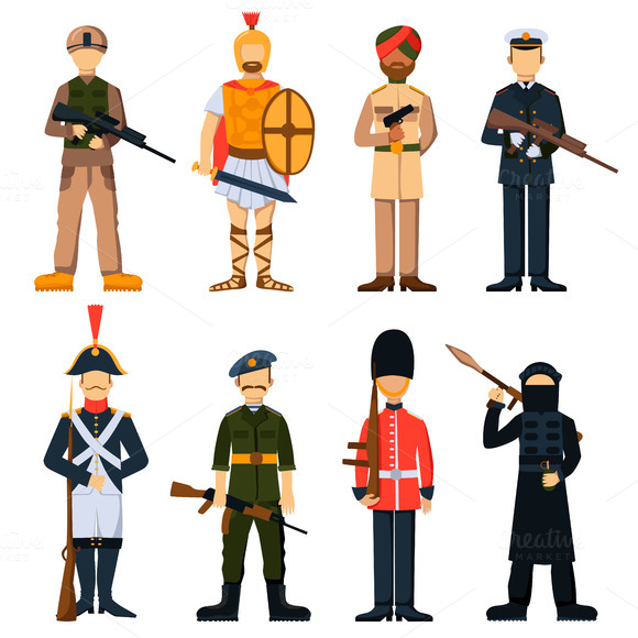 Vector Uniform Avatar Character Set