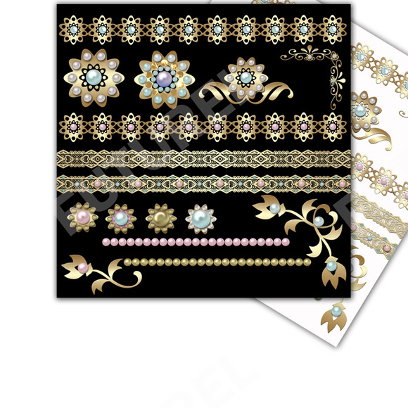 Gold And Pearls Clip Art