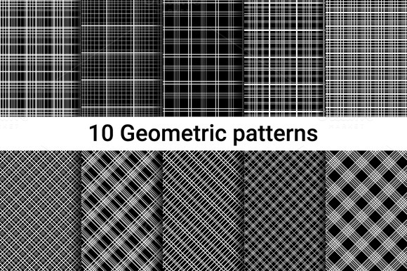 Seamless Patterns. Linear style.  - Patterns