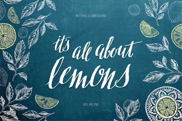 Lemons. Vector illustrations - Illustrations