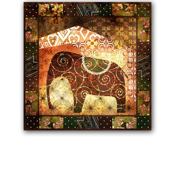 Grunge Elephant. Africa. - Patterns